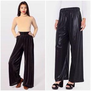 American Apparel Metallic Wide Leg Pants